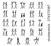 simple stick figures | Shutterstock .eps vector #576373387