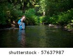 the girl at the river | Shutterstock . vector #57637987