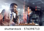 he needs winning strategy ....   Shutterstock . vector #576398713
