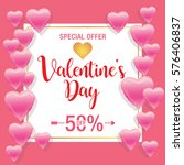valentine's day sale background | Shutterstock .eps vector #576406837