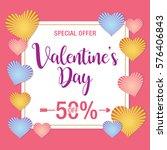 valentine's day sale background   Shutterstock .eps vector #576406843