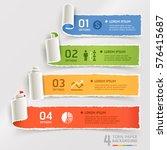 torn paper infographics... | Shutterstock .eps vector #576415687