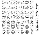 emoji emoticons symbols icons... | Shutterstock .eps vector #576415717