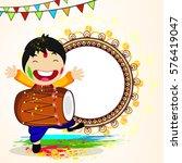 happy holi vector illustration... | Shutterstock .eps vector #576419047