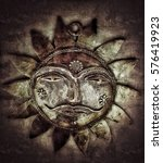 grunge sun background and... | Shutterstock . vector #576419923