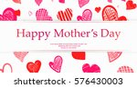 mothers day concept hand drawn... | Shutterstock .eps vector #576430003