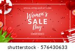 red web banner for women's day... | Shutterstock .eps vector #576430633