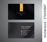 black business cards set design ... | Shutterstock .eps vector #576434887