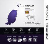 grenada map vector illustration | Shutterstock .eps vector #576439687