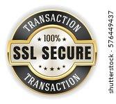 Gold Ssl Transaction Badge  ...