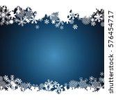christmas border  snowflake... | Shutterstock . vector #576454717