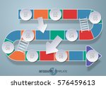 vector design snake stairs... | Shutterstock .eps vector #576459613