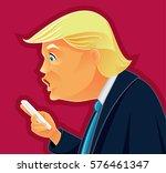 february 8  2017  donald trump...   Shutterstock .eps vector #576461347