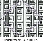 abstract seamless black and... | Shutterstock . vector #576481327