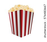 pop corn bucket icon  | Shutterstock .eps vector #576483667