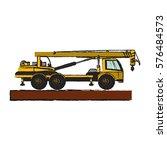 construction trucks design | Shutterstock .eps vector #576484573