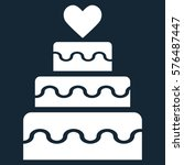 marriage cake vector icon... | Shutterstock .eps vector #576487447