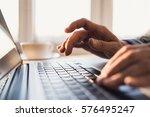 businessman using laptop... | Shutterstock . vector #576495247