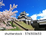 shirakawa komine castle and... | Shutterstock . vector #576503653
