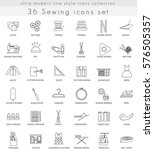 sewing ultra modern outline... | Shutterstock . vector #576505357