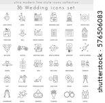 wedding ultra modern outline... | Shutterstock . vector #576506083