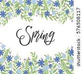 spring handwritten vector... | Shutterstock .eps vector #576508117
