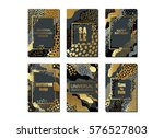 set of creative universal cards ... | Shutterstock .eps vector #576527803