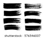 set of hand drawn black paint ... | Shutterstock .eps vector #576546037