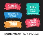 set of universal grunge black... | Shutterstock .eps vector #576547063