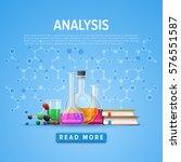 modern tool set of chemistry.... | Shutterstock .eps vector #576551587