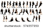 collection of silhouettes woman ...   Shutterstock .eps vector #576557353