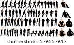 collection of silhouettes of... | Shutterstock .eps vector #576557617