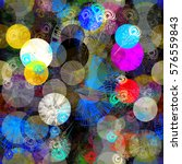 paint circles and stylized... | Shutterstock .eps vector #576559843