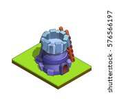 isometric medieval tower...