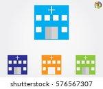 hospital building  icon  vector ... | Shutterstock .eps vector #576567307