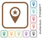 poi gps map location simple... | Shutterstock .eps vector #576568477
