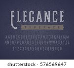 linear letters and numbers.... | Shutterstock .eps vector #576569647