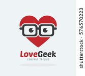 love geek with hipster glasses... | Shutterstock .eps vector #576570223