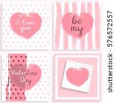 valentine's day card.... | Shutterstock .eps vector #576572557