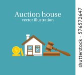 auction house. concept bidding... | Shutterstock .eps vector #576572647