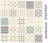 set of seamless patterns  sea... | Shutterstock .eps vector #576579547