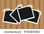 set of square frames on sticky... | Shutterstock .eps vector #576585583