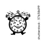 happy alarm clock   retro clip... | Shutterstock .eps vector #57658699