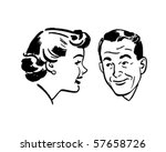 man and woman chatting   retro... | Shutterstock .eps vector #57658726