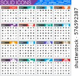 solid icon sets for business ...