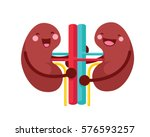 healthy happy and cute human... | Shutterstock .eps vector #576593257