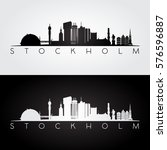 stockholm skyline and landmarks ... | Shutterstock .eps vector #576596887