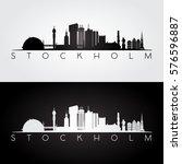 Stockholm Skyline And Landmark...