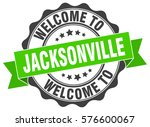 jacksonville. welcome to... | Shutterstock .eps vector #576600067