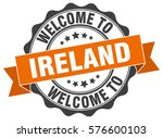 ireland. welcome to ireland... | Shutterstock .eps vector #576600103